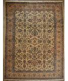 RugStudio presents ORG Kerman Floral Ivory-Tan Hand-Knotted, Good Quality Area Rug